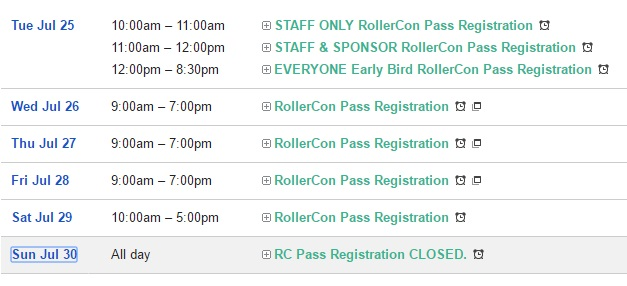 RC17 Registration Hours