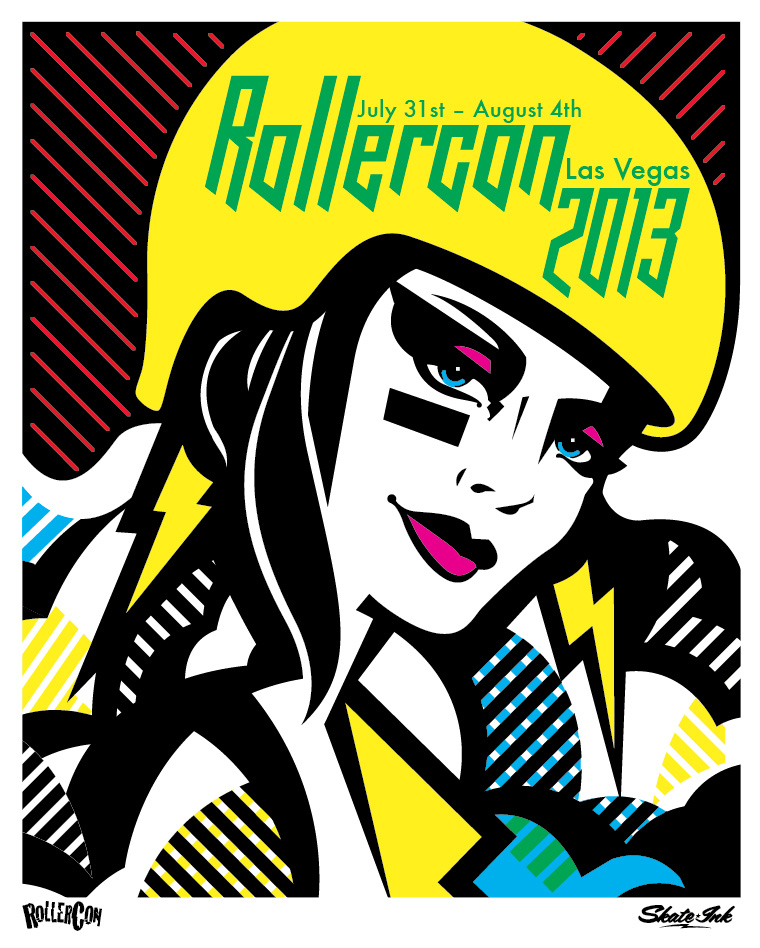RC13 skate ink poster by Jay Vollmar